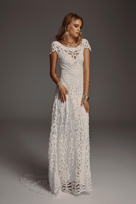 Rue De Seine Violet wedding dress bridal shop store gowns christchurch wellington