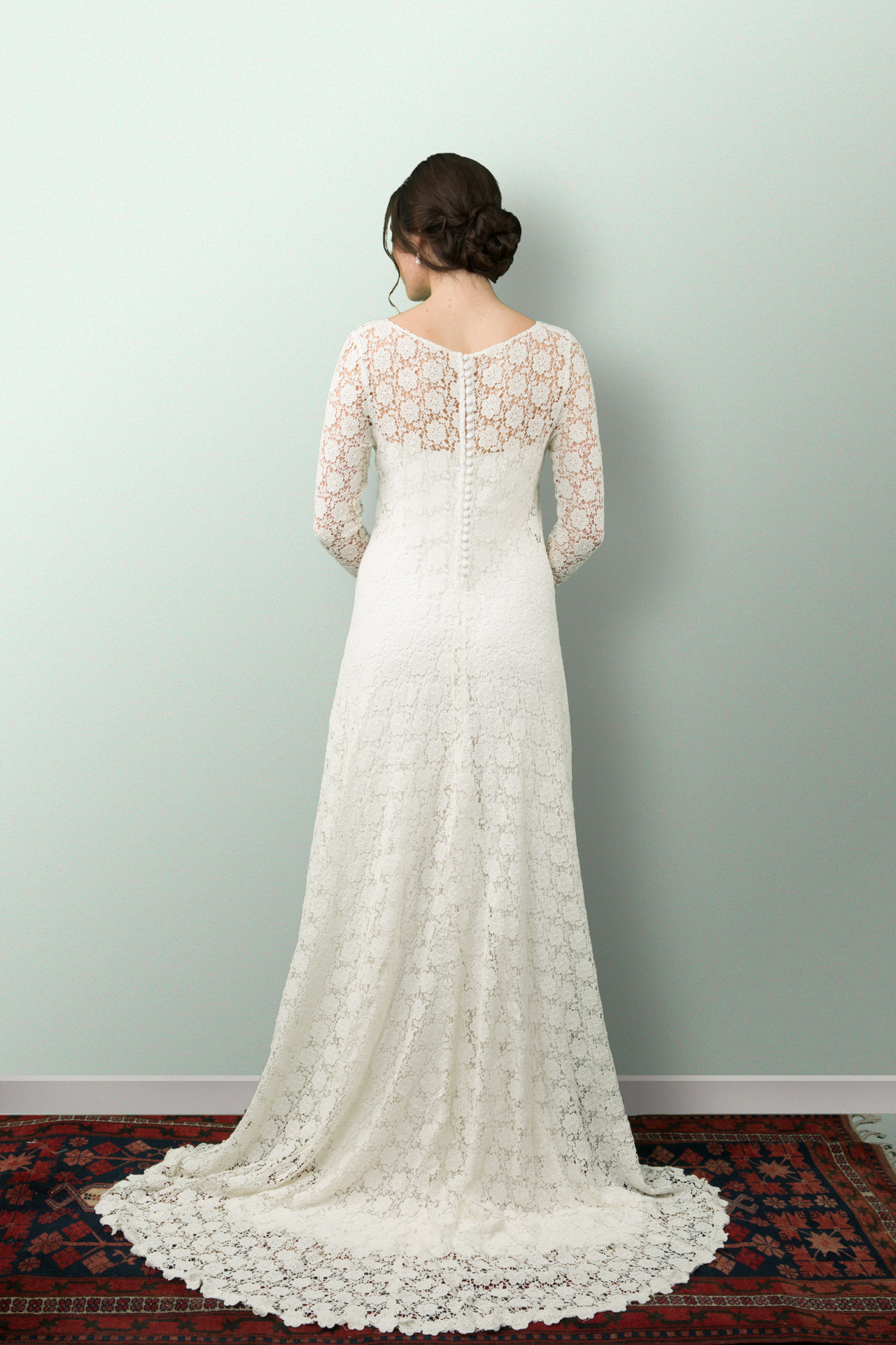 Jessica Lace Wedding Dress - PaperswanBride