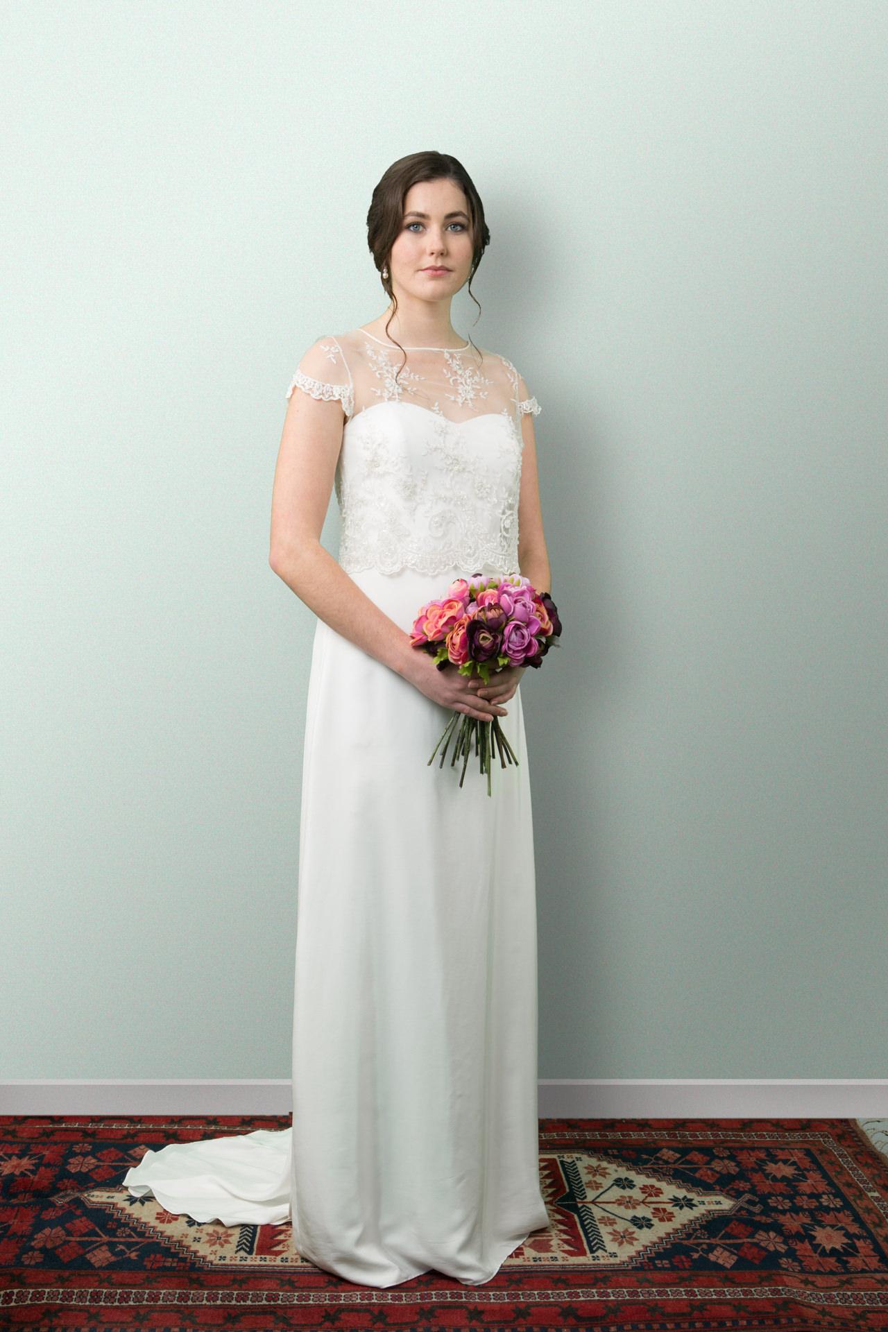 Silk Satin Alabaster Wedding Dress