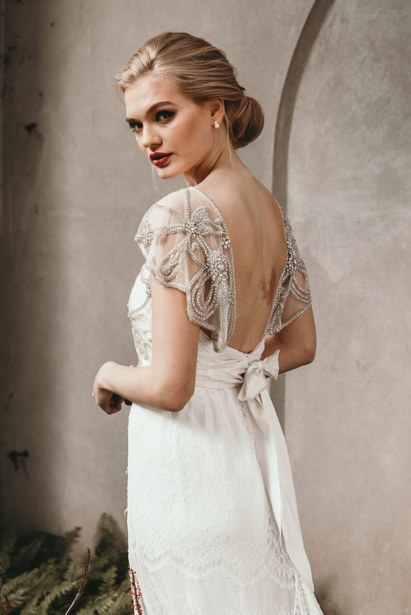 ADELAIDE SLIMLINE LACE wedding dresss by anna campbell