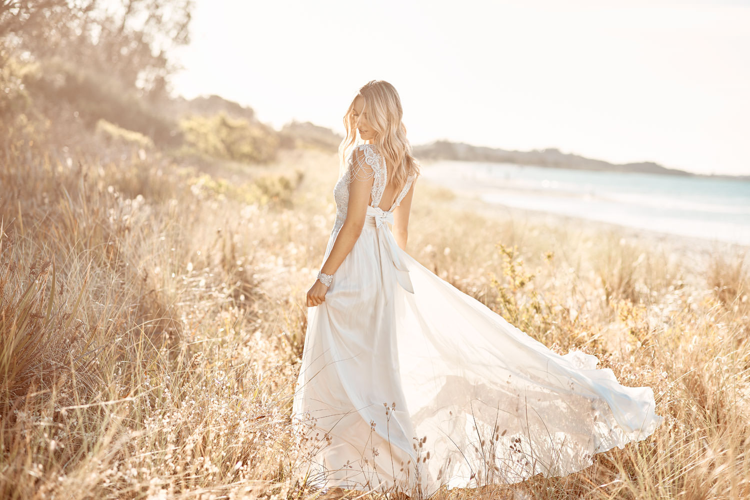 Grace Silk Tulle Wedding Dress by Anna Campbell - Paperswan Bride