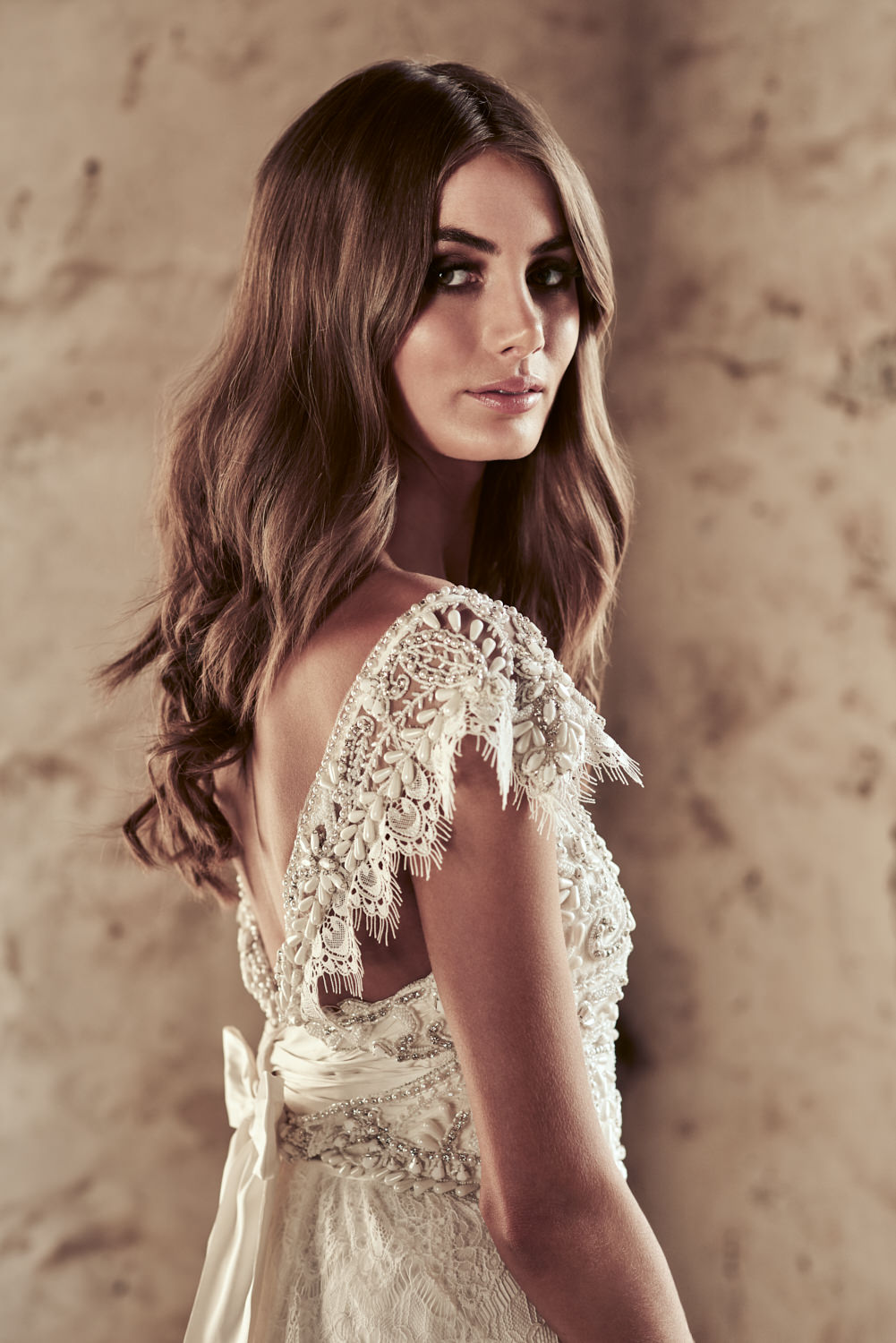 Ruby Brocade Wedding Dress by Anna Campbell - Paperswan Bride ...
