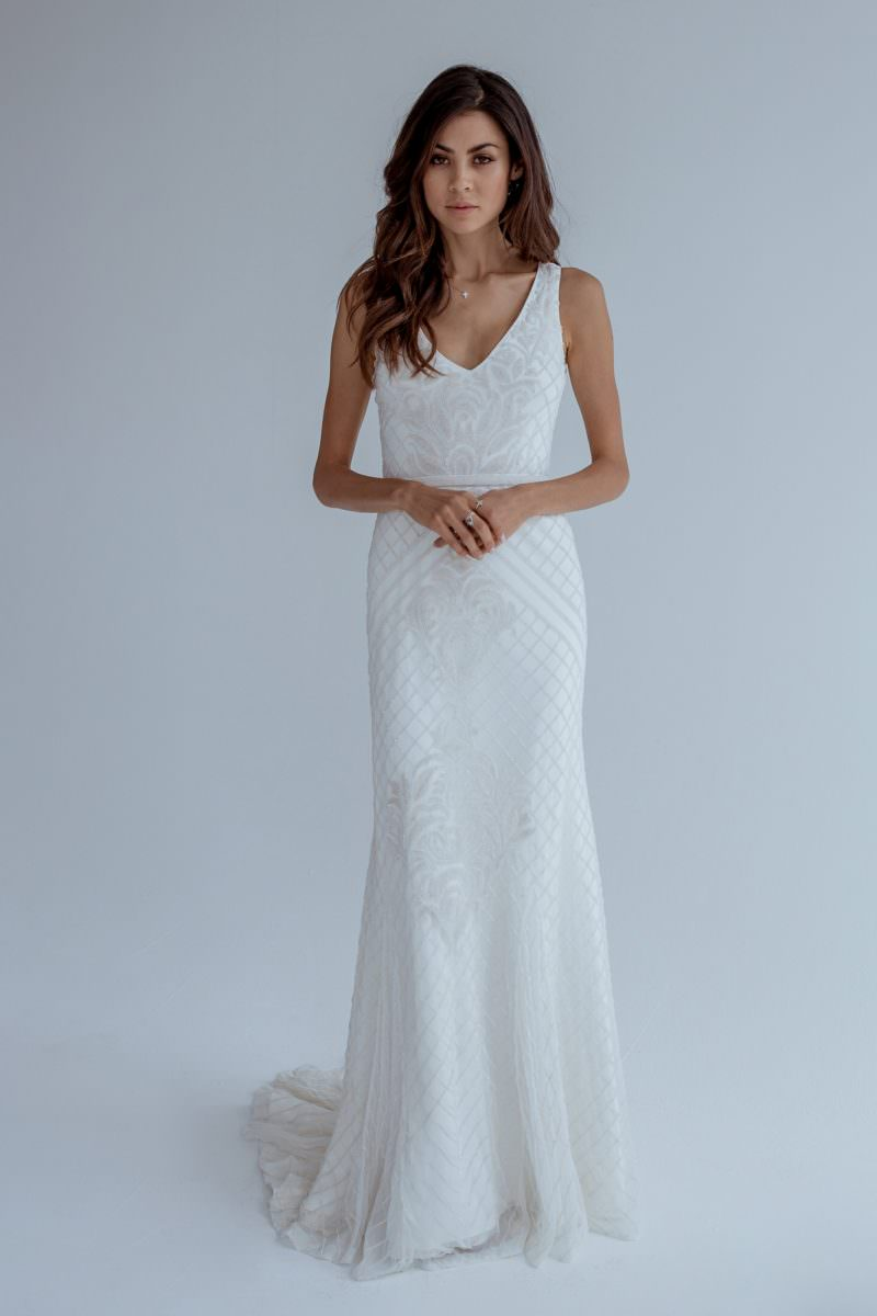 Karen Willis Holmes Wedding Dress Collection available exclusively at Paperswan Bride. Christchurch and Wellington. Book your appointment today.