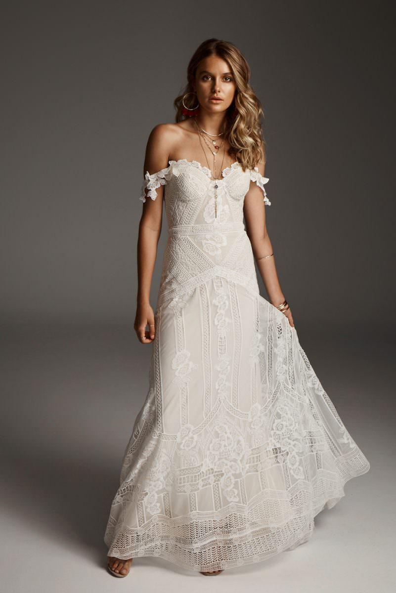 Rue De Seine fox wedding dress bridal shop store gowns christchurch wellington