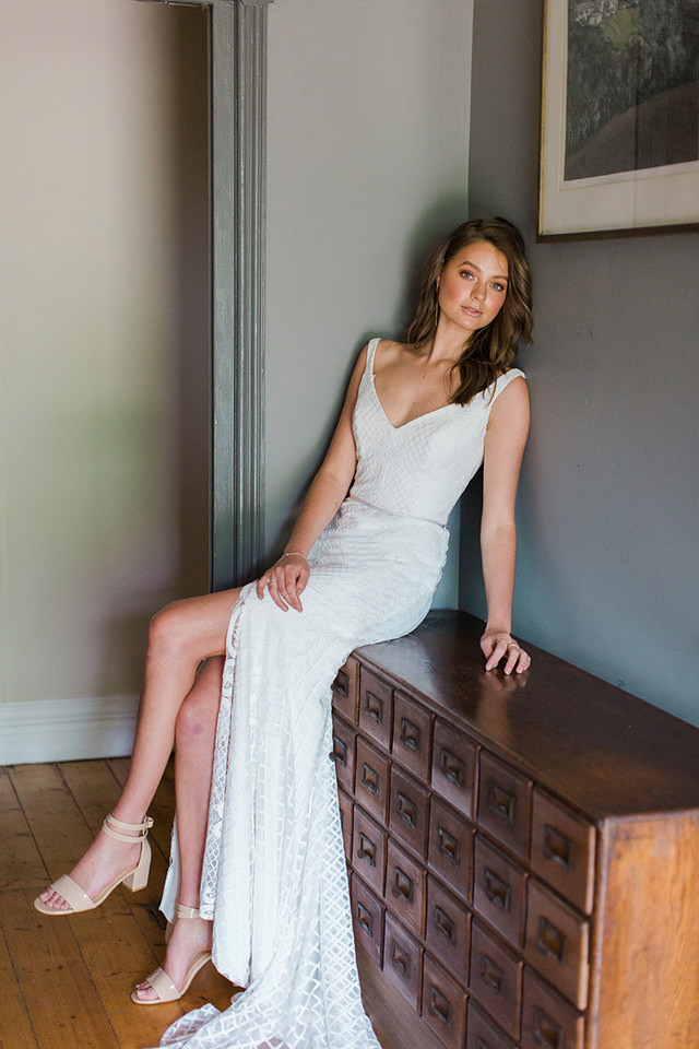Karen Willis Holmes Bobby Wedding Dress - Paperswan Bride - Wedding Dress Shop Wellington Christchurch NZ