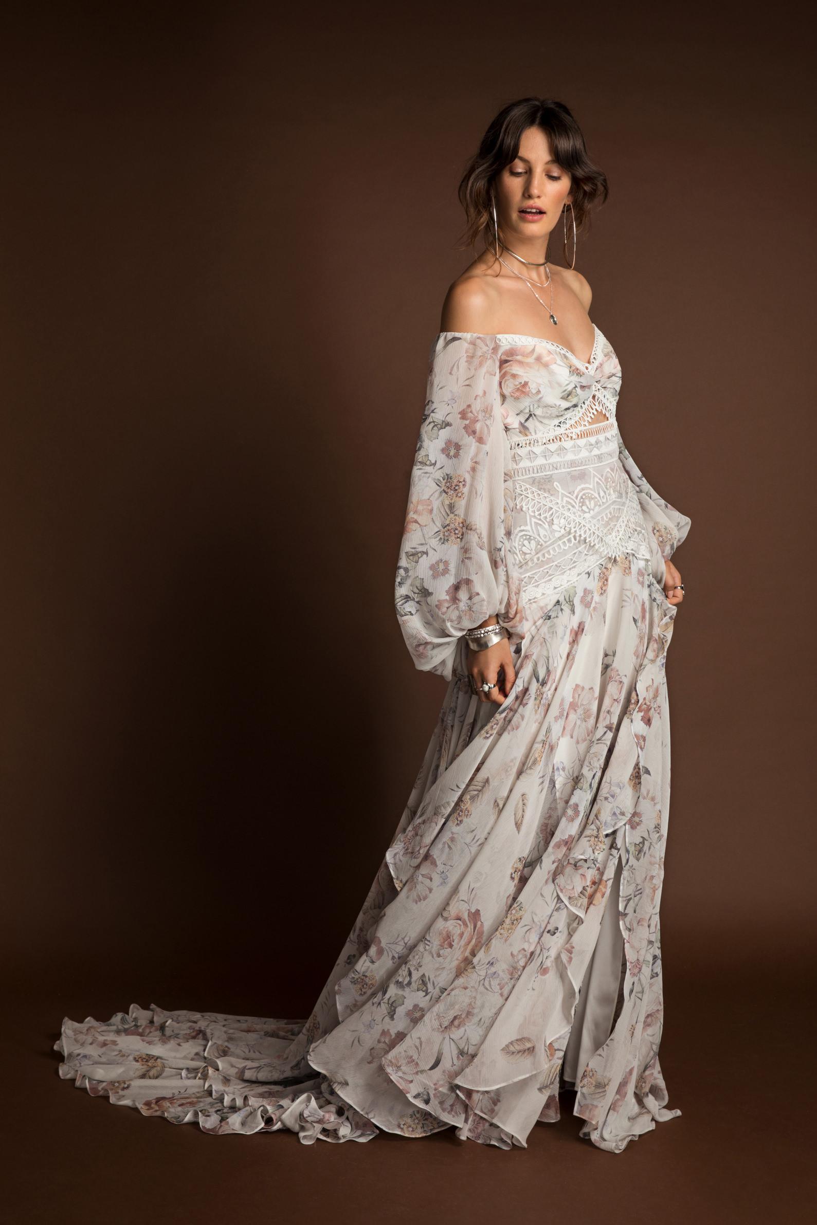 Rue De Seine Nahla Wild Heart wedding dress bridal shop store gowns christchurch wellington