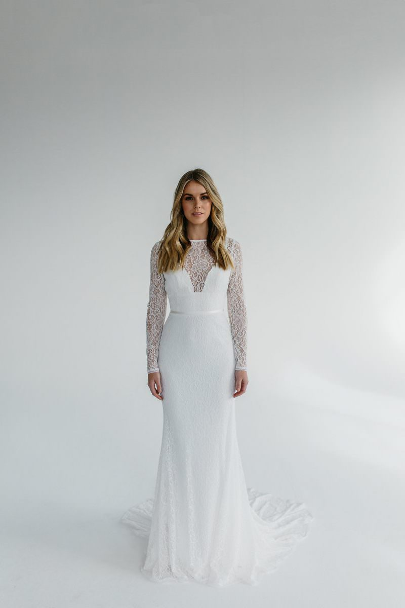 Karen Willis Holmes Karina Wedding Dress - Paperswan Bride - Wedding Dress Shop Wellington Christchurch NZ