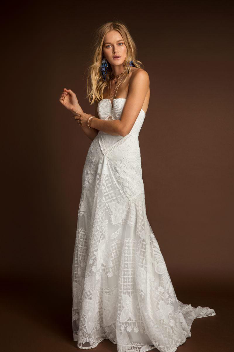 Rue De Seine Farah Wild Heart wedding dress bridal shop store gowns christchurch wellington