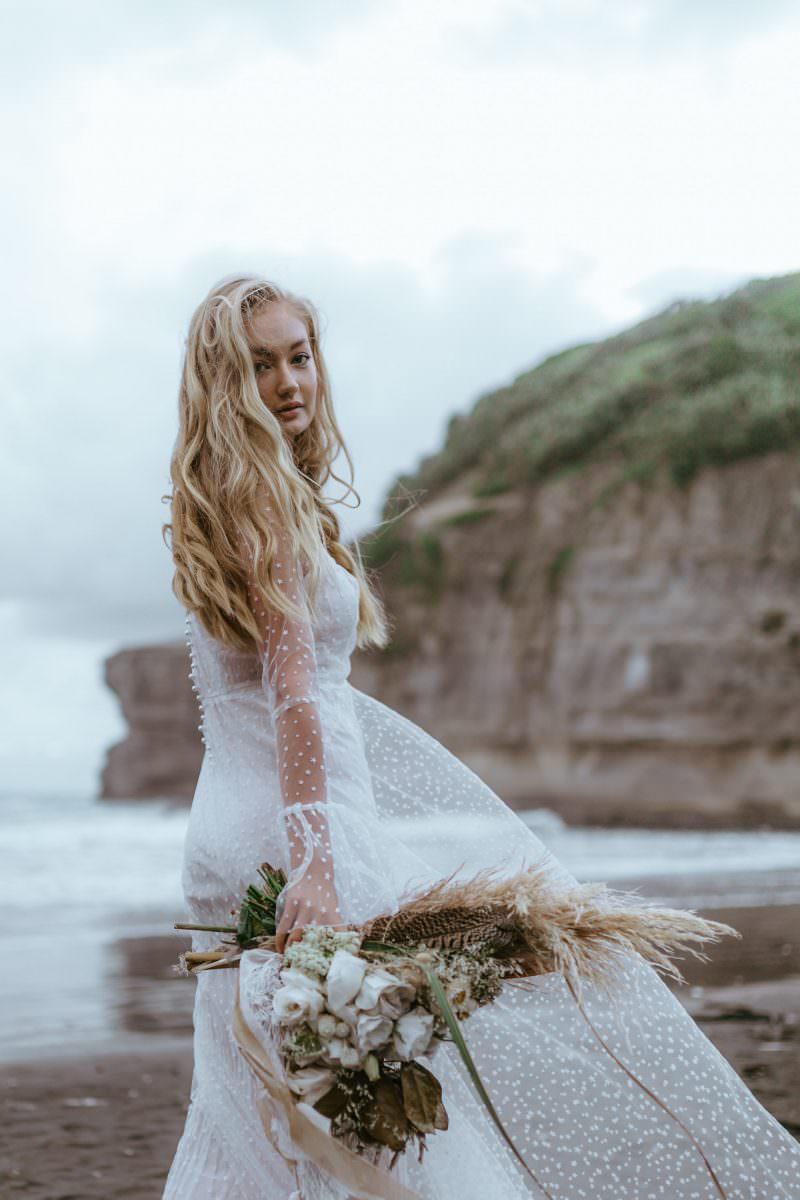 Natalie Chan Bridal Joanna in stars wedding dress bridal shop store gowns christchurch wellington