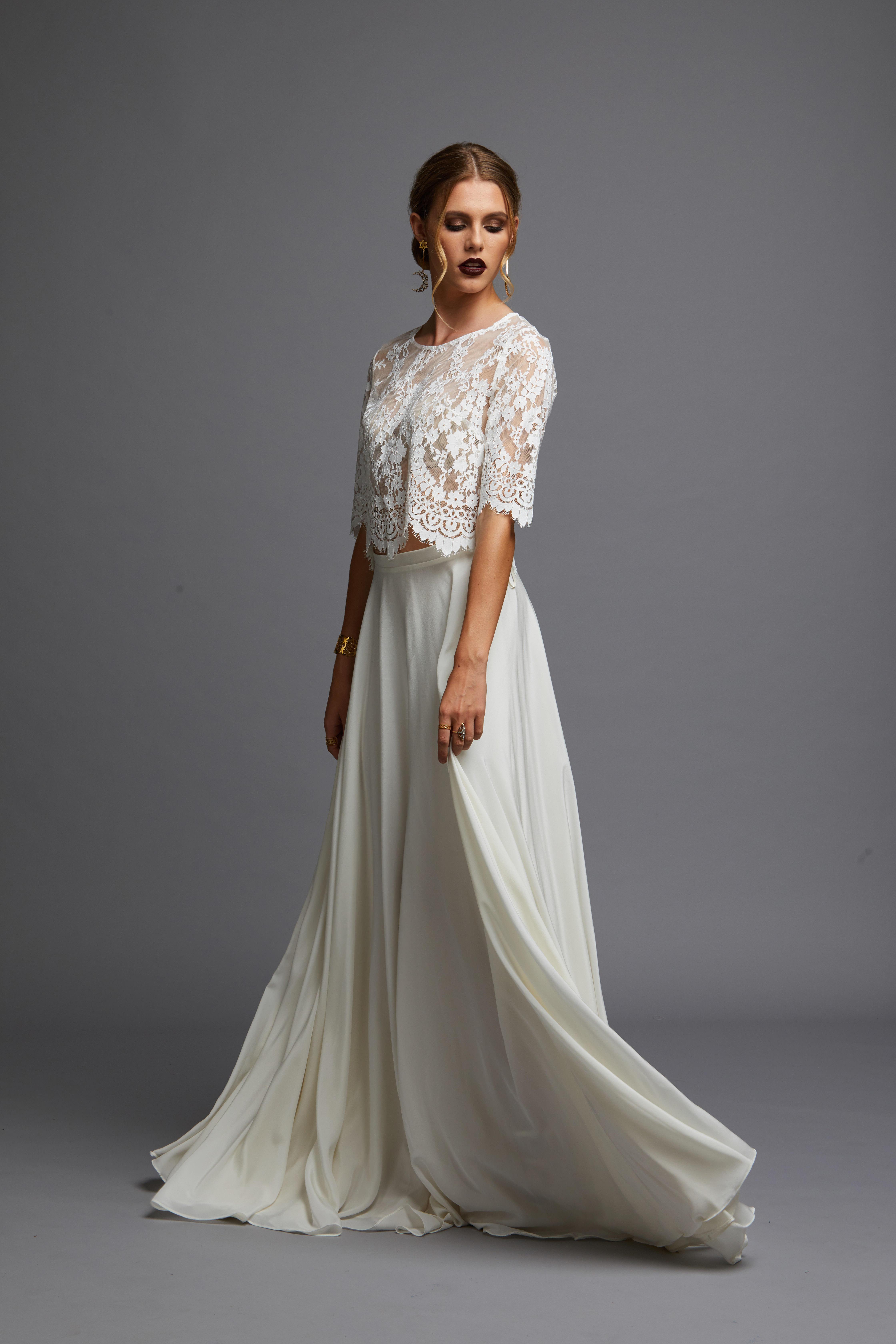Natalie Chan Bridal Juliet in skirt wedding dress bridal shop store gowns christchurch wellington