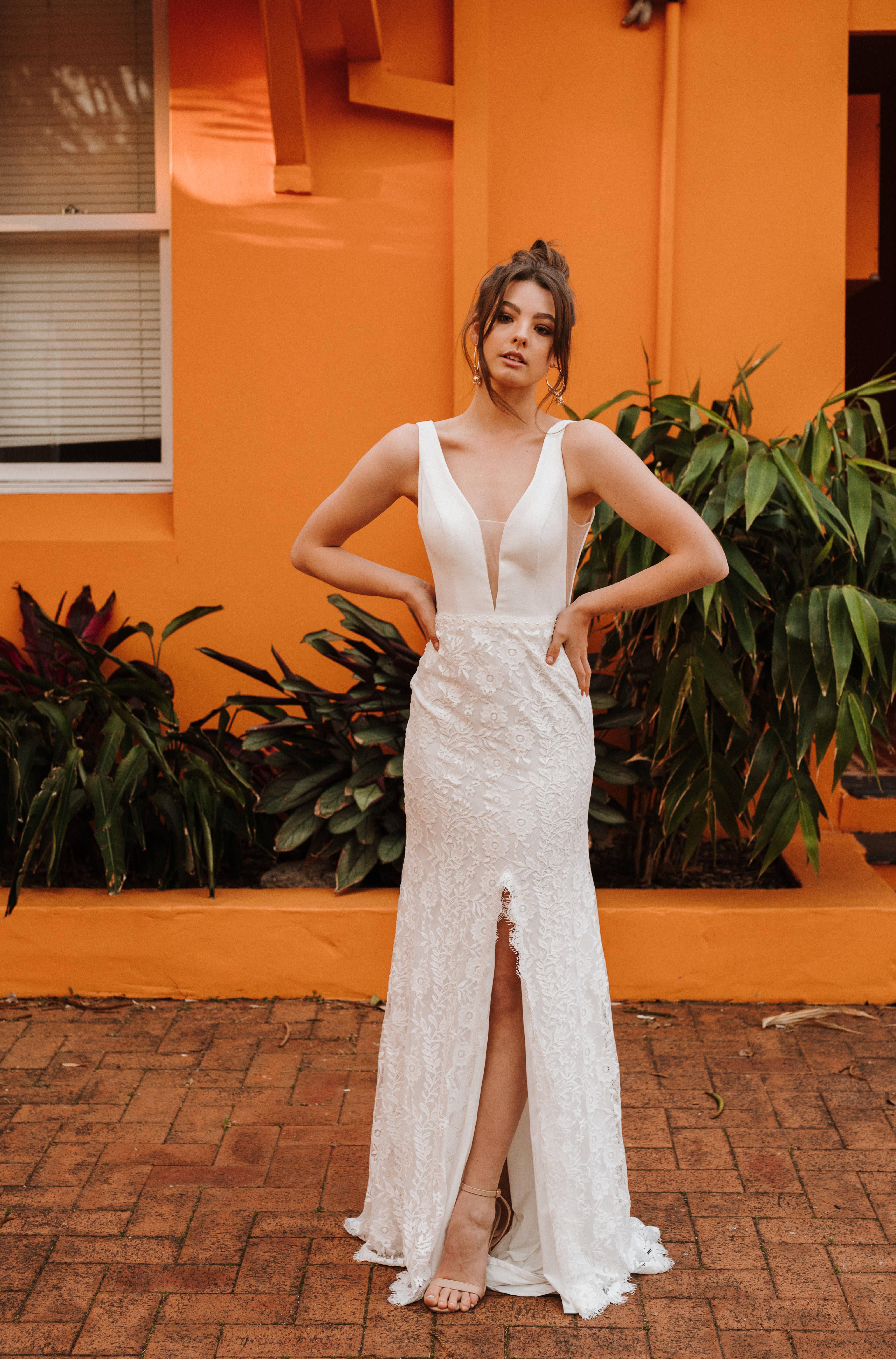 Daisy Viola wedding dress bridal shop store gowns christchurch wellington
