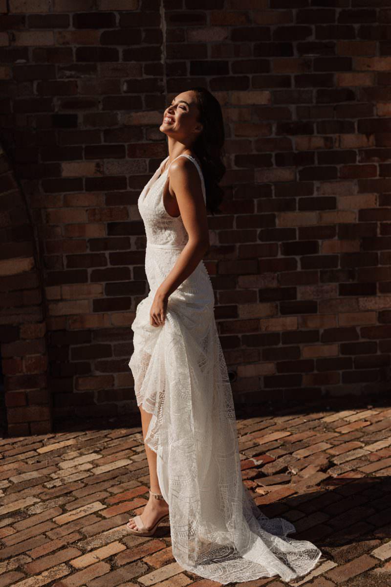 Hera Bridal Maddison wedding dress bridal shop store gowns christchurch wellington