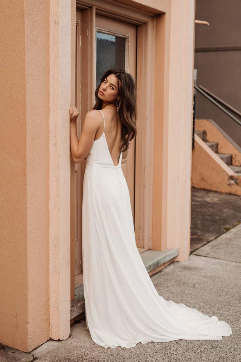 Cassia daisy Wedding Dress wedding dresses bridal shop store gowns christchurch wellington