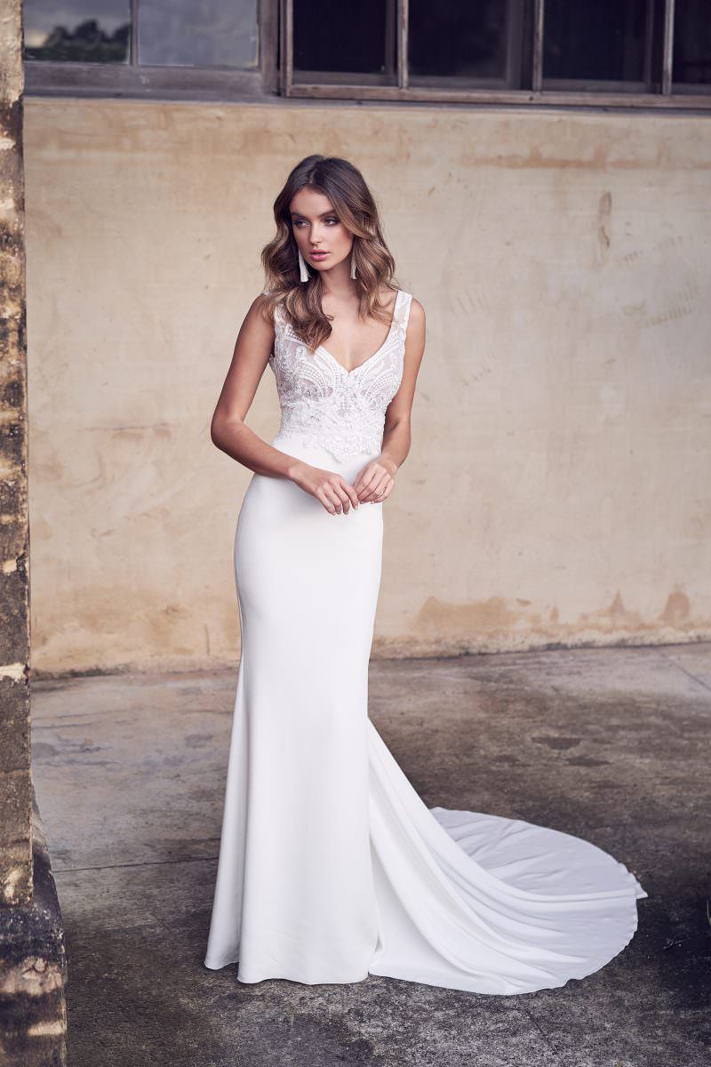 Jamie Dress (Crepe de Chine) Anna Campbell wedding dress bridal shop store gowns christchurch wellington
